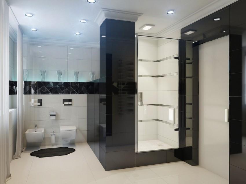 Белая плитка в ванной: оптимальные идеи дизайна и варианты сочетания. Советы профессионалов по выбору плитки и ее применению (110 фото)