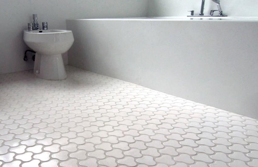 Белый пол в ванной - основные правила применения белого цвета в ванной. Советы по выбору освещения и акцентов в ванной комнате (75 фото)