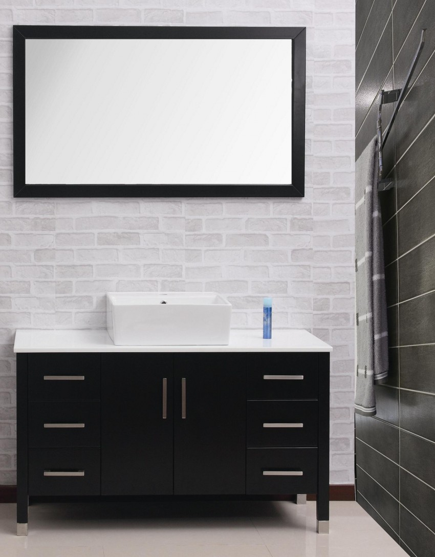 Черная мебель для ванной - лучшие аксессуары, советы по подбору сантехники и варианты оформления стильного дизайна (150 фото)