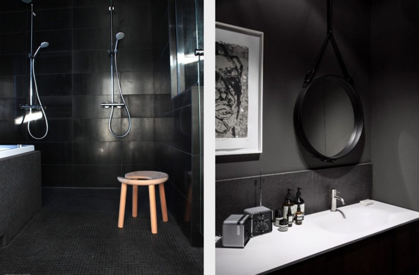 Черная ванная - оптимальные сочетания в интерьере и правила использования черного цвета в дизайне ванной комнаты (105 фото)