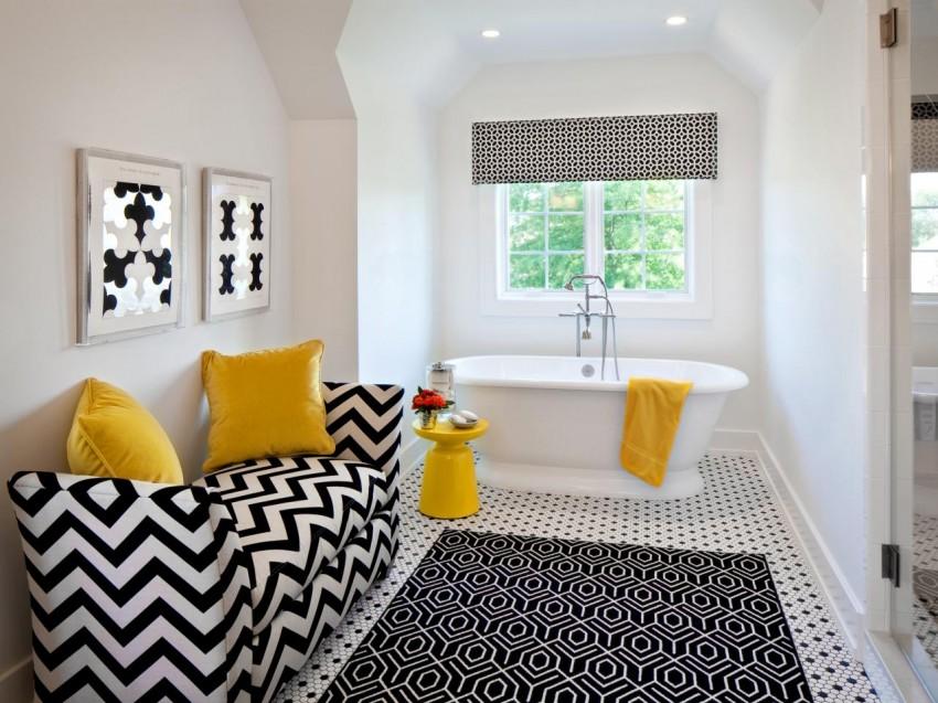 Черно-белая ванная: варианты дизайна и советы по выбору оптимальных сочетаний интерьера (105 фото)