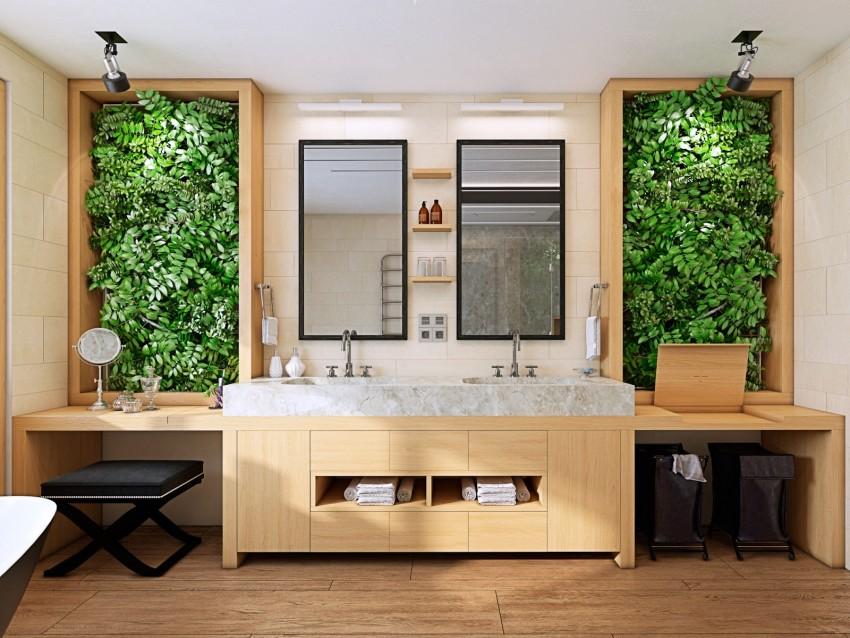 Декор ванной - оригинальные решения, современные примеры и рекомендации по оформлению ванной комнаты (90 фото)
