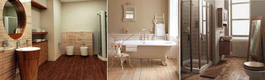 Деревянный пол в ванной - подбор лучших материалов и советы по выбору способа укладки (95 фото)