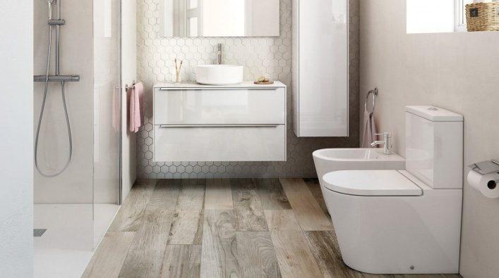Деревянный пол в ванной — подбор лучших материалов и советы по выбору способа укладки (95 фото)
