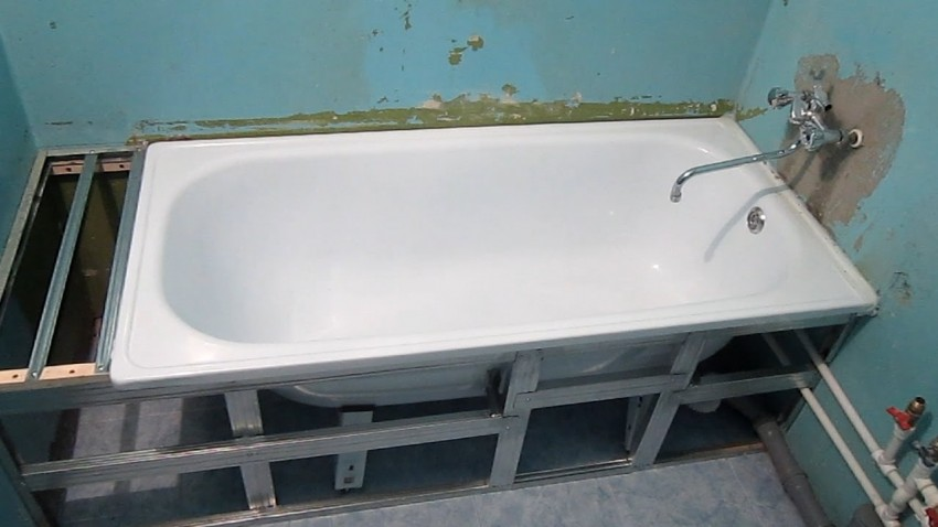 Каркас для ванной - руководство по изготовлению, оптимальные проекты и подготовка под нестандартные модели ванн (105 фото)