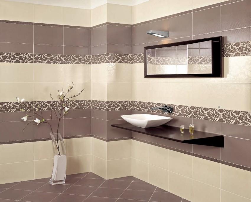 Керамическая плитка для ванной - преимущества, недостатки, советы по выбору отделки и пробору сочетаний (видео и 110 фото)