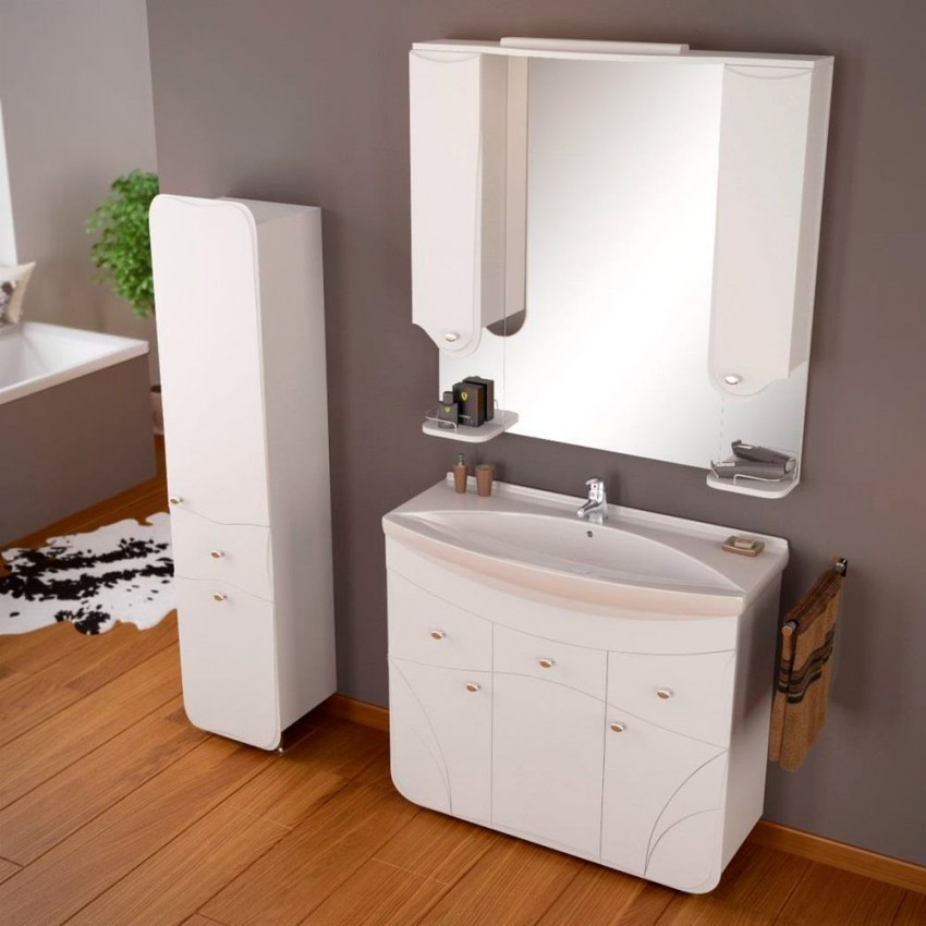 Комплект мебели для ванной - рекомендации по выбору, обязательные элементы и особенности сочетания с дизайном интерьера (100 фото и видео)