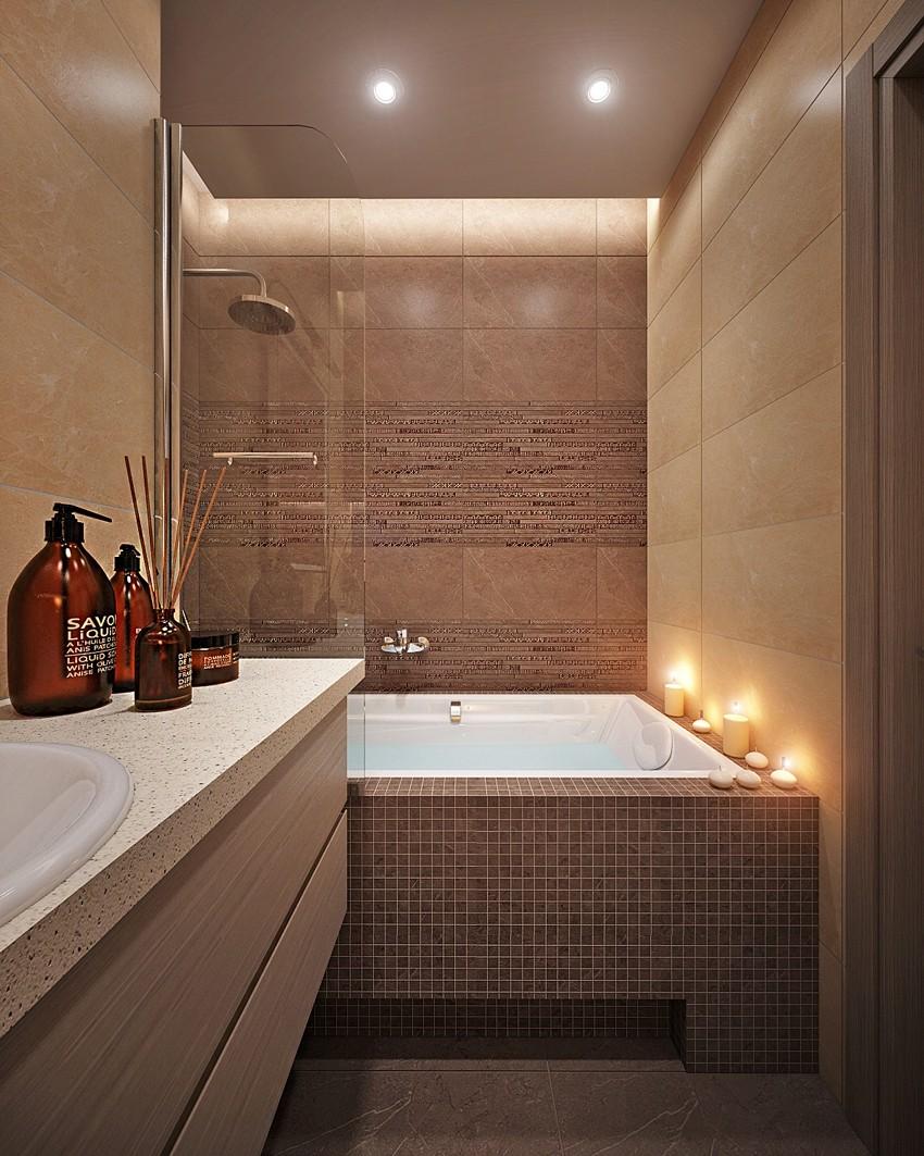 Коричневая ванная - как правильно выбрать сочетания и советы по идеальному оформлению (105 фото и видео)
