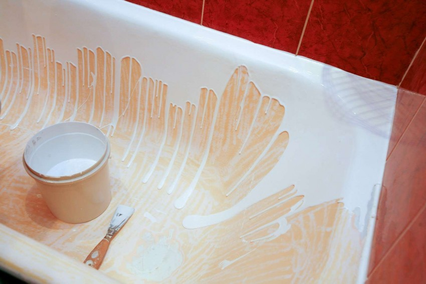 Краска для ванной: как выбрать и нанести правильно краску на ванну. 105 фото стильных сочетаний и обзор самых модных цветов и оттенков