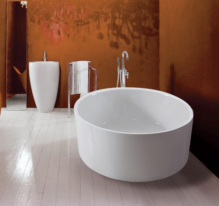 Круглая ванная - советы по выбору дизайна, плюсы, минусы и особенности оформления (105 фото)
