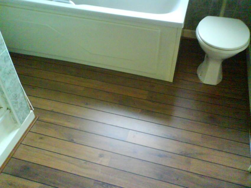 Ламинат для ванной - правила укладки, особенности идей красивого оформления и применения (95 фото)