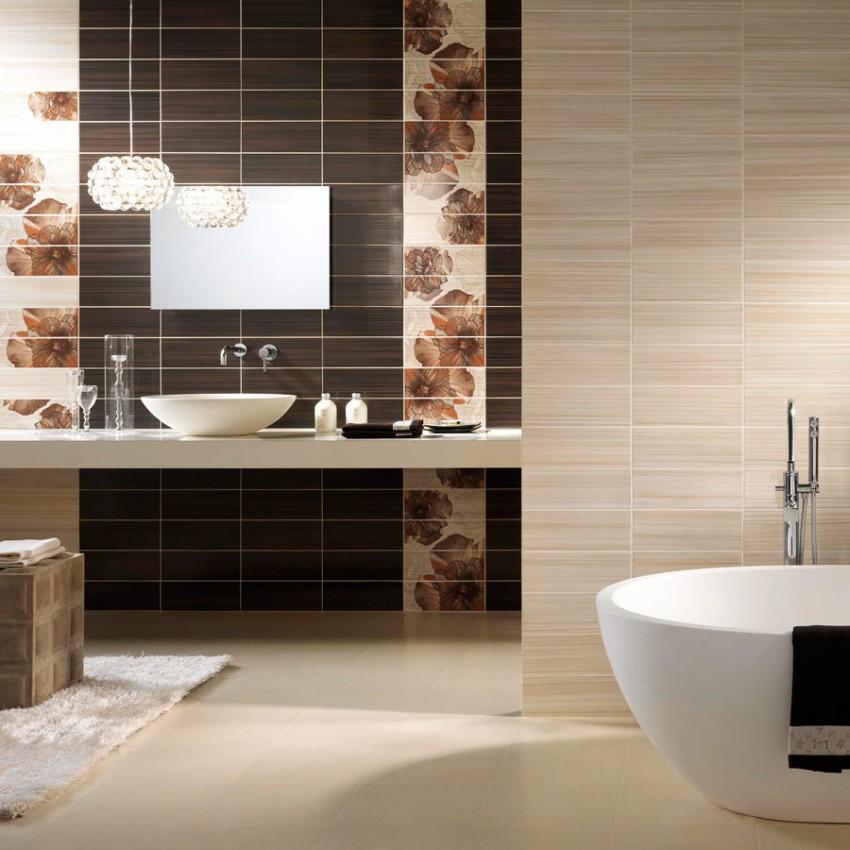 Дизайн интерьера серой ванной комнаты: серые стены в ванной, серая плитка и пол, фото