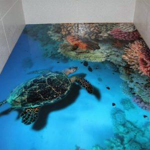Наливной пол в ванной — подробная инструкция как изготовить и украсить стильный и красивый пол (100 фото)