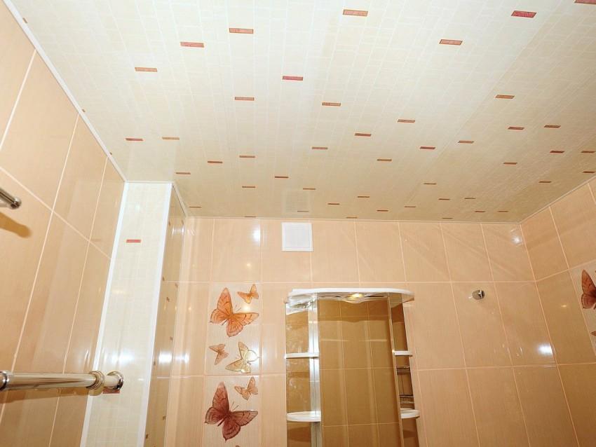 Потолок ПВХ в ванной: плюсы и минусы пластикового отделочного материала и особенности его монтажа и оформления (105 фото)