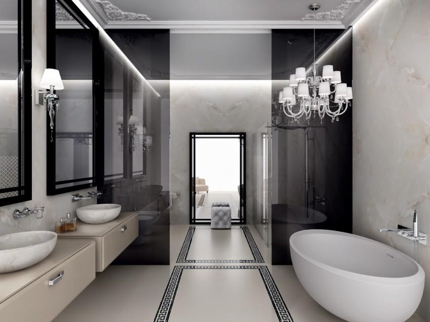 Потолок из гипсокартона в ванной - плюсы, минусы, советы по выбору дизайна и особенности конструкций (90 фото)