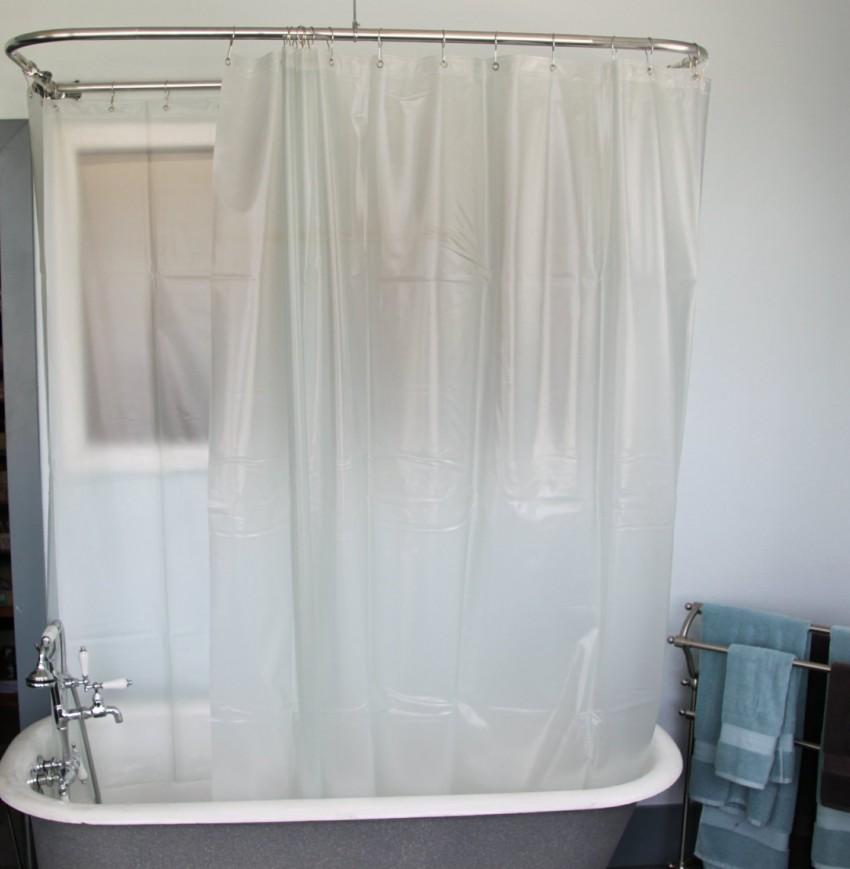 Шторка для ванной - новинки сезона и современные сочетания с дизайном ванной комнаты (110 фото)