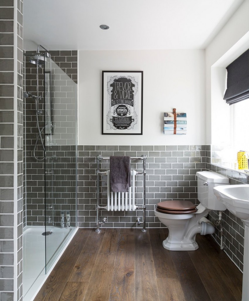 Серая ванная - дизайн, идеи оформления и особенности подбора стиля интерьера (115 фото)