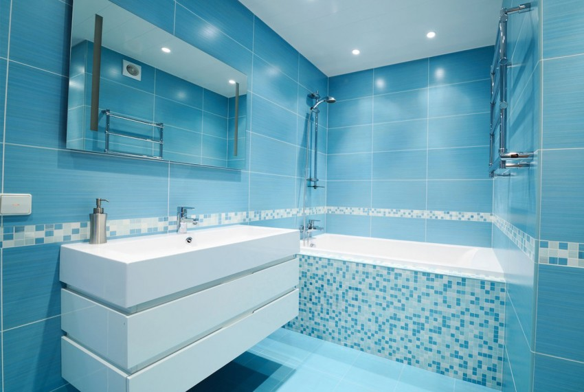 Синяя ванная - 80 фото идей красивого дизайна, сочетания цвета и лучших вариантов оформления