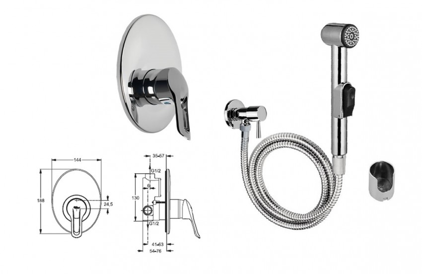 Смеситель для гигиенического душа - 110 фото различных моделей, их установка и советы по подключению