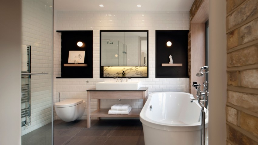 Современная ванная: идеи дизайна, лучшие решения по оформлению и перепланировке старых ванных комнат (100 фото)