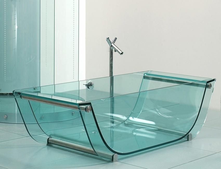Стеклянная ванна со стеклом как сделать с вставкой и стеклянной стенкой своими руками