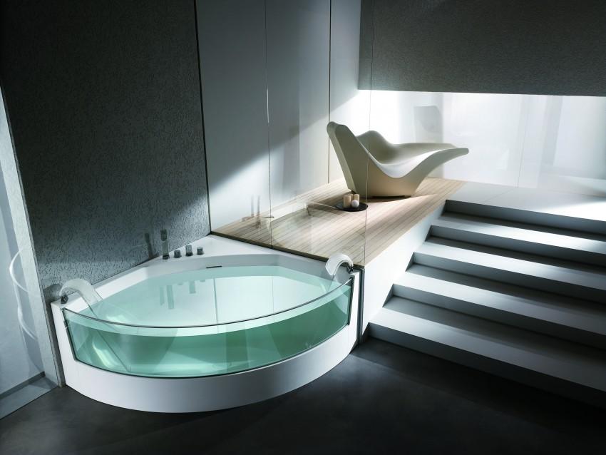 Стеклянная ванная - 90 фото, преимущества, недостатки, обзор современных моделей и интересные варианты дизайна