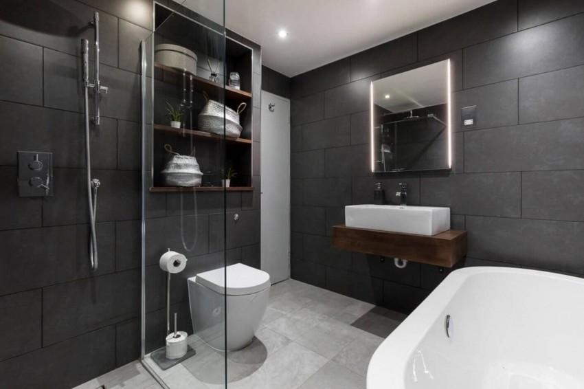 Темная ванная - стильные и элегантные примеры оформления. Оригинальные проекты, преимущества, недостатки и современные идеи (115 фото)