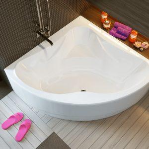 Угловая акриловая ванна — самые популярные решения и лучшие идеи размещения (120 фото и видео)