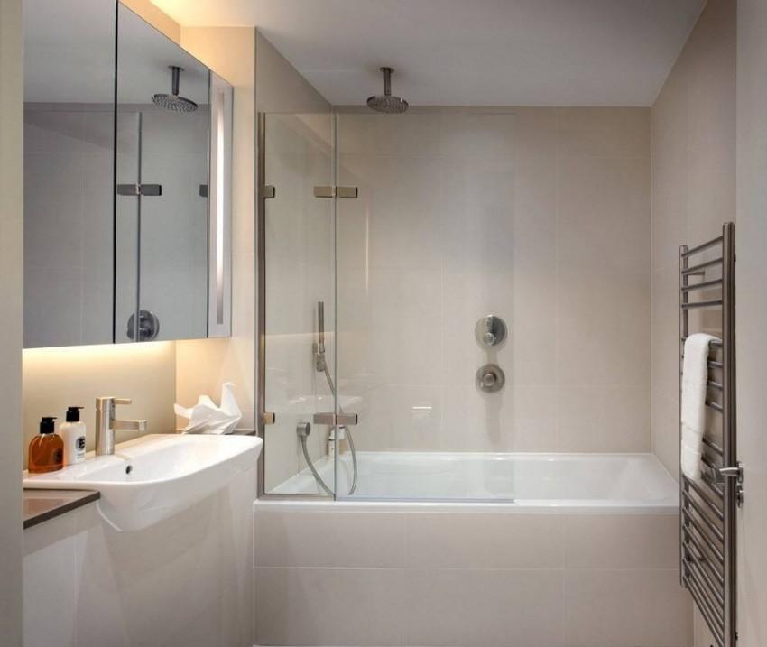 Узкая ванная: советы дизайнеров по выбору стиля и оформлению. 75 фото лучших идей распределения места