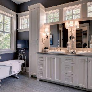 Ванная с окном — советы по дизайну, примеры использования и советы по правильному размещению окна (75 фото и видео)