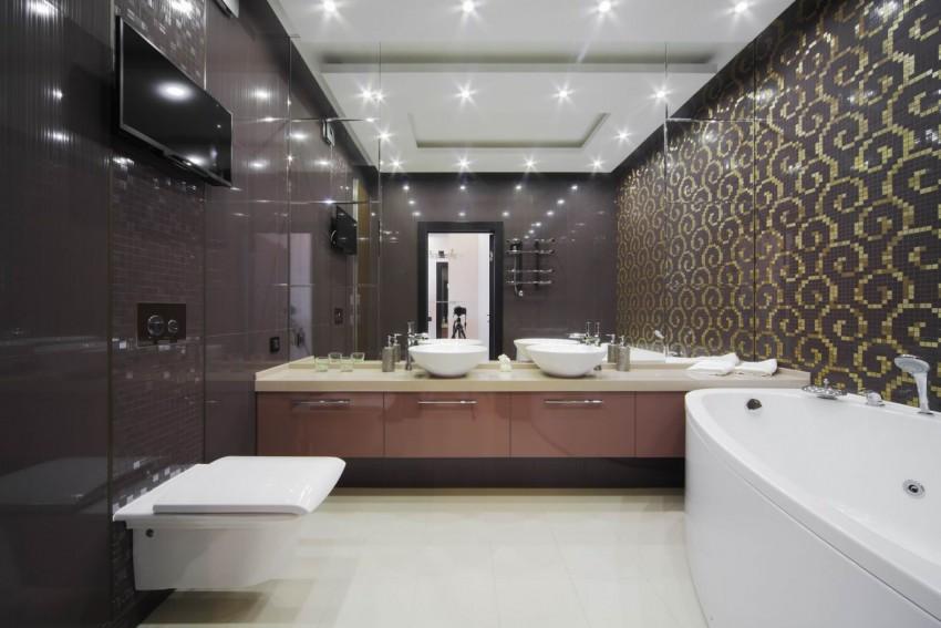 Ванная в доме - планировка ванной, варианты расположения и особенности дизайна (125 фото)