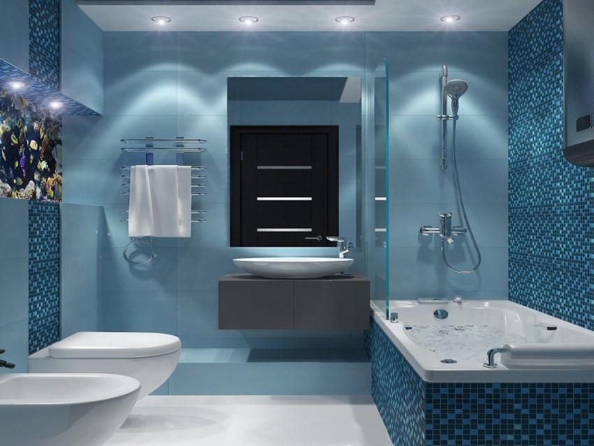 Интерьер ванной комнаты правила красивого и комфортного дизайна