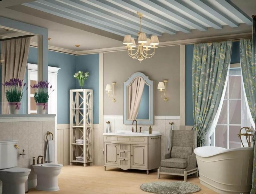 Ванная в стиле Прованс - простые правила оформления ванной в элегантном стиле. Лучшие сочетания и модные новинки этого сезона (115 фото)