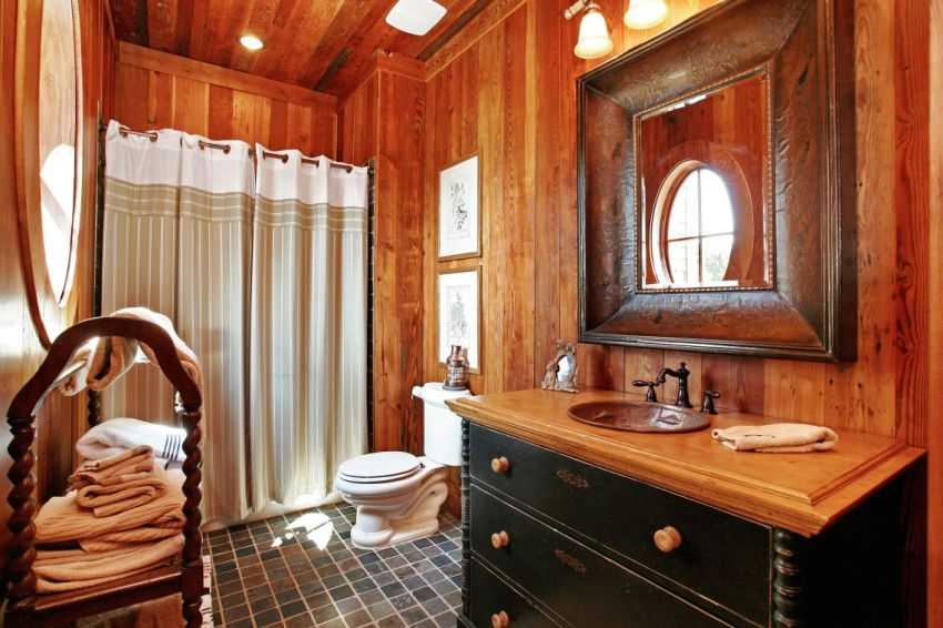 Деревянная ванная: дизайн, современные идеи оформления и особенности применения аксессуаров