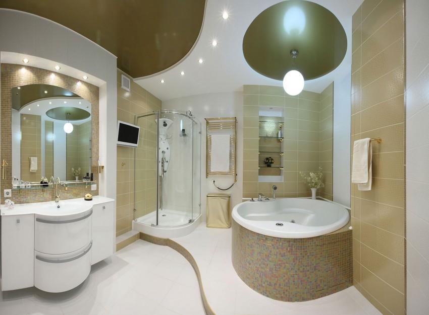 Отделка потолка в ванной: 120 фото стильных решений и популярных вариантов оформления потолка