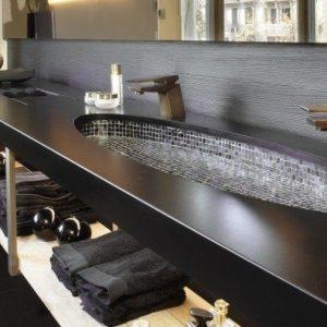 Дизайн столешницы в ванной: фото различных вариаций, красивые примеры в интерьере