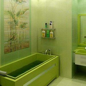 Ванная в зеленых тонах: идеи дизайна ванной, фото интерьера